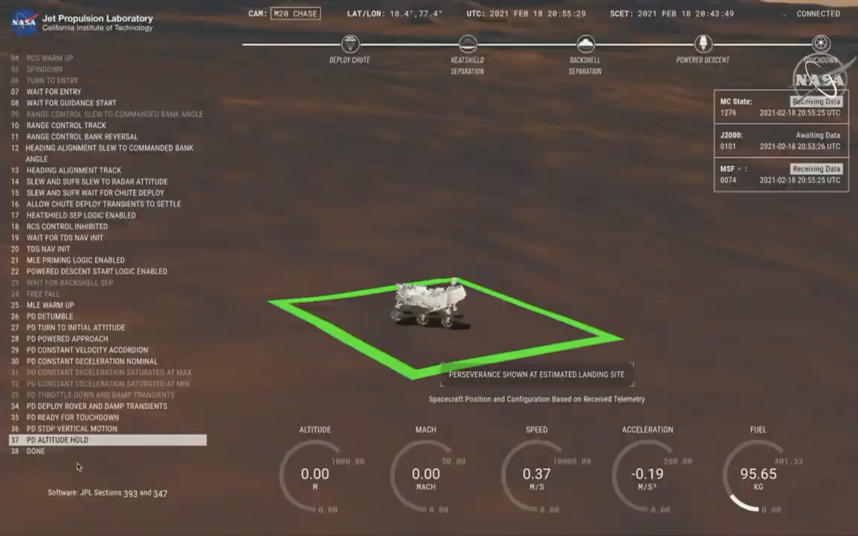 A computer rendering of the Mars rover landed on Mars.