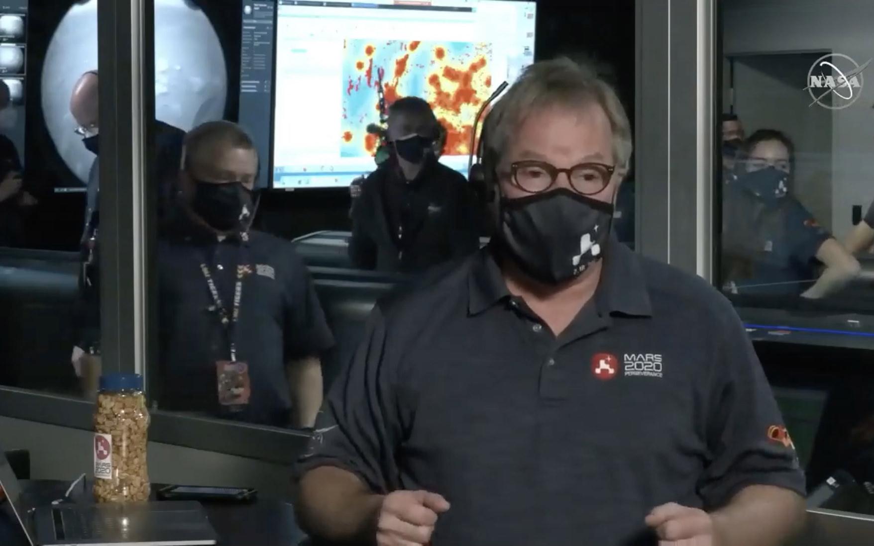 NASA engineer discussing the landing.