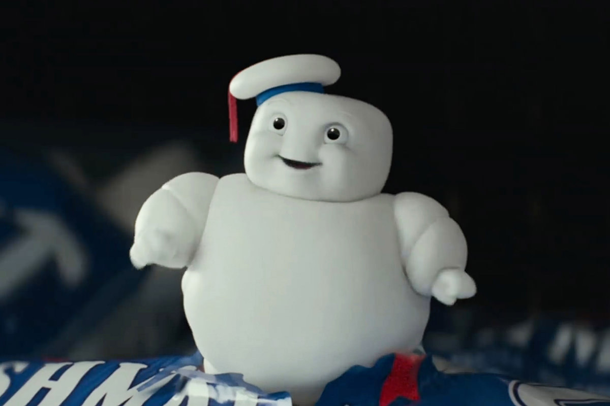 A mini Stay-Puft Marshmallow Man from Ghostbusters.