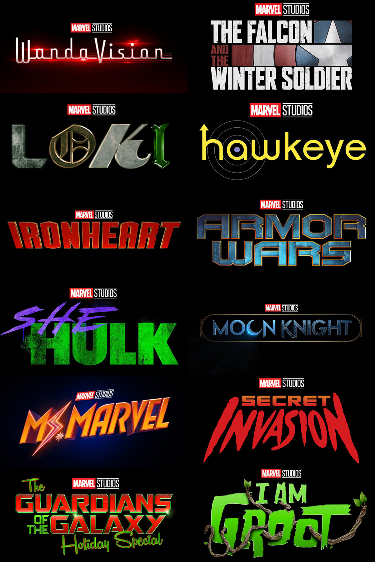 Marvel Disney+ Series Posters
