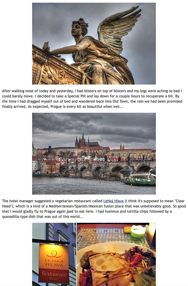 Photos of my trip to Prague on my blog.