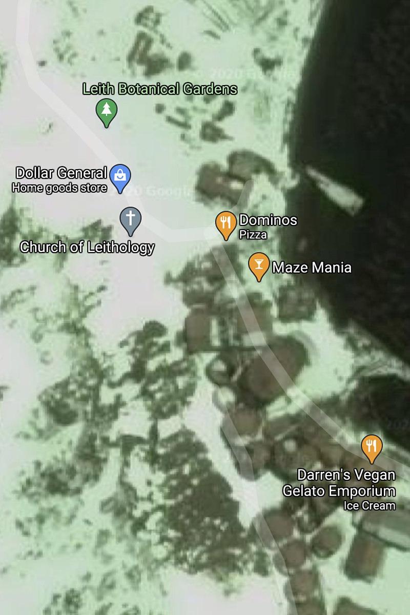 Google Map of South Georgia Island.