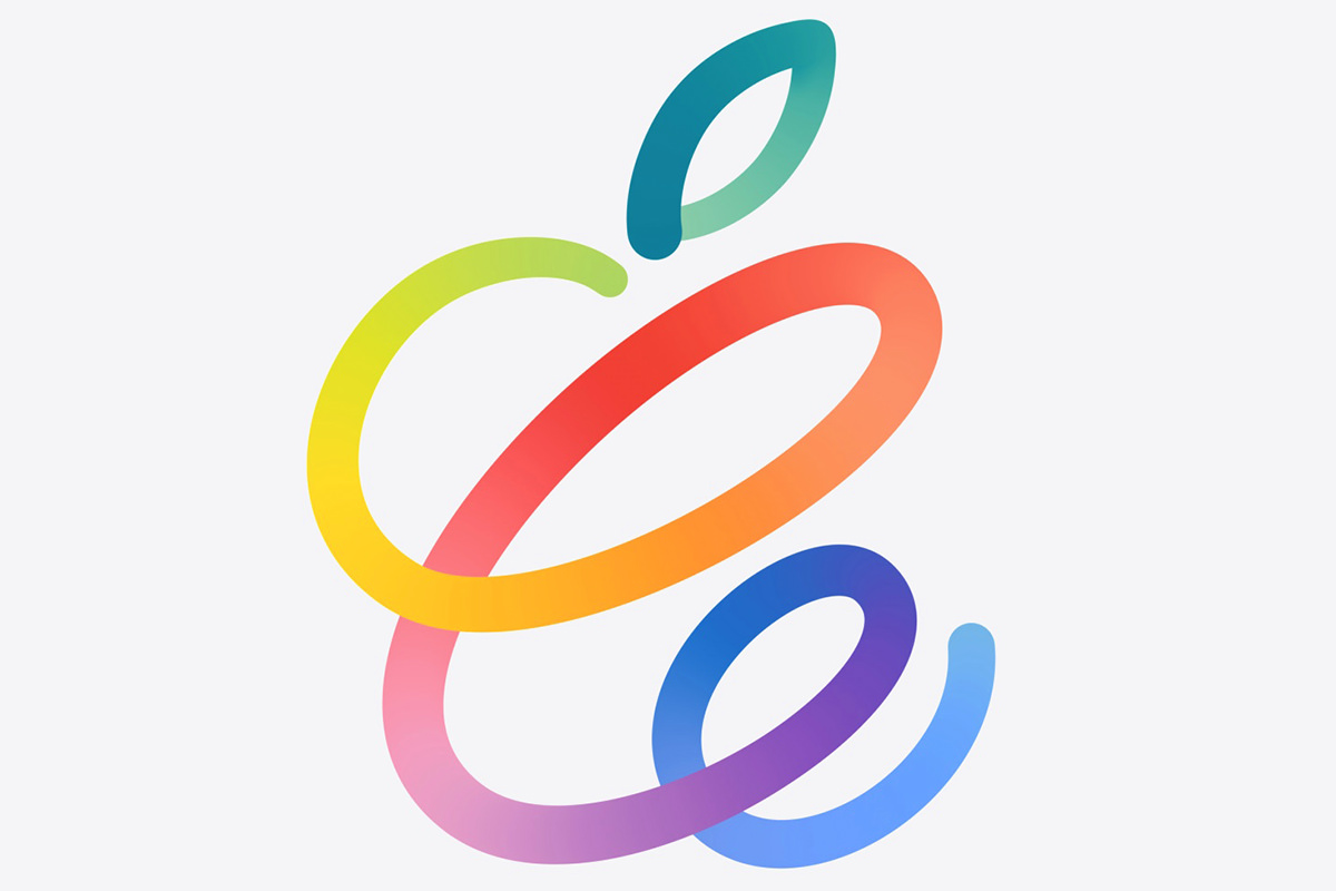 The Spring Loaded logo... which is the Apple logo coiled like a spring in a rainbow of colors.