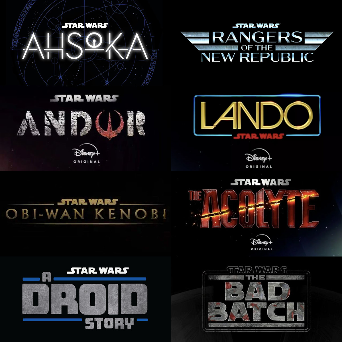 Star Wars Series Posters for Disney+