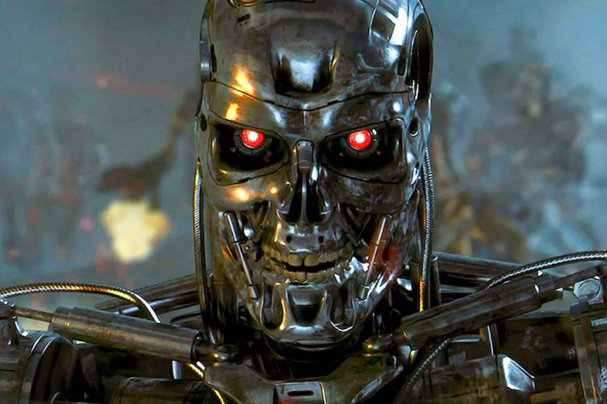 A murderous robot from the Terminator movies.