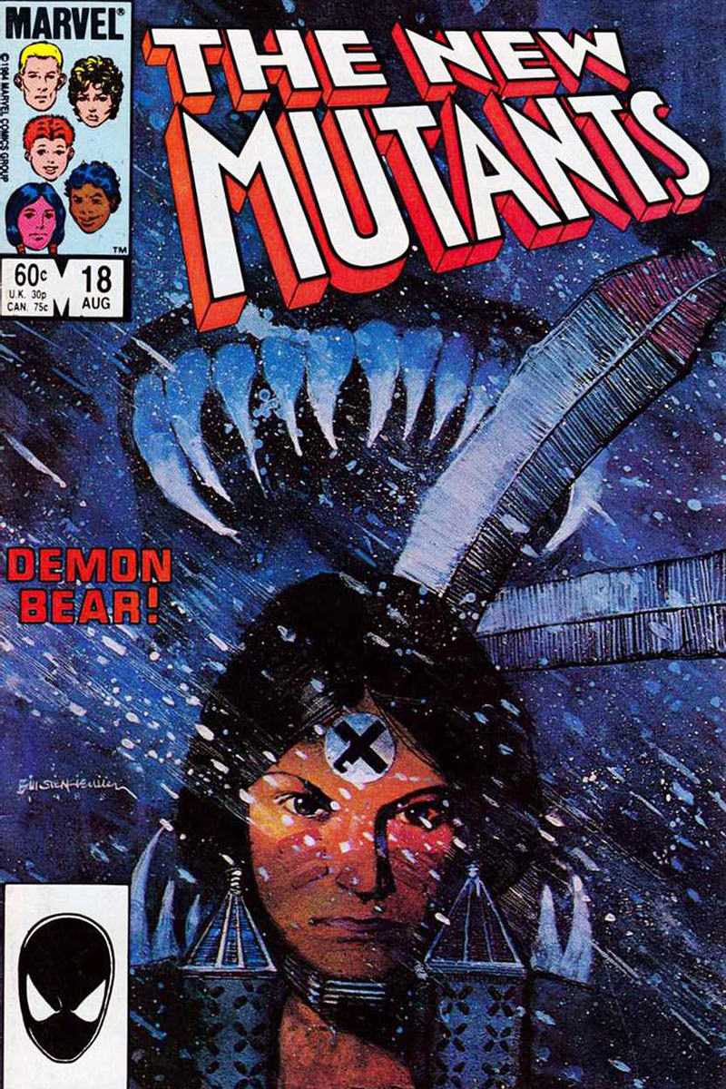 New Mutants #18 Comic Book Cover