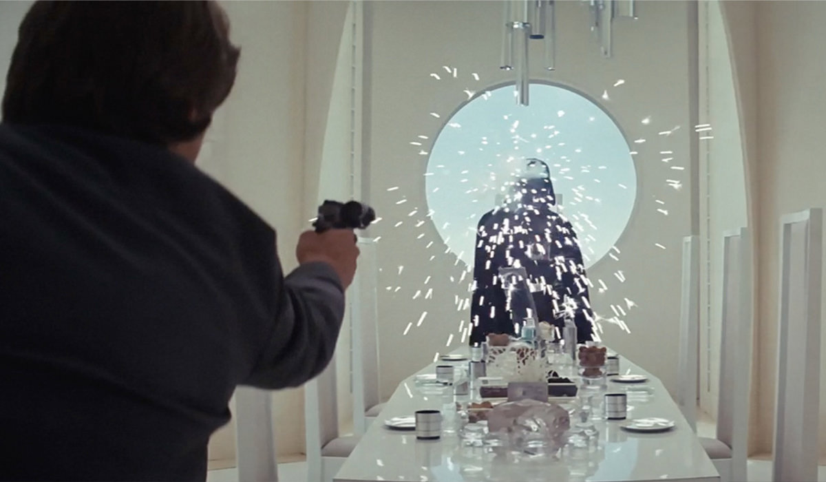 Darth Vader deflects the photon blast!