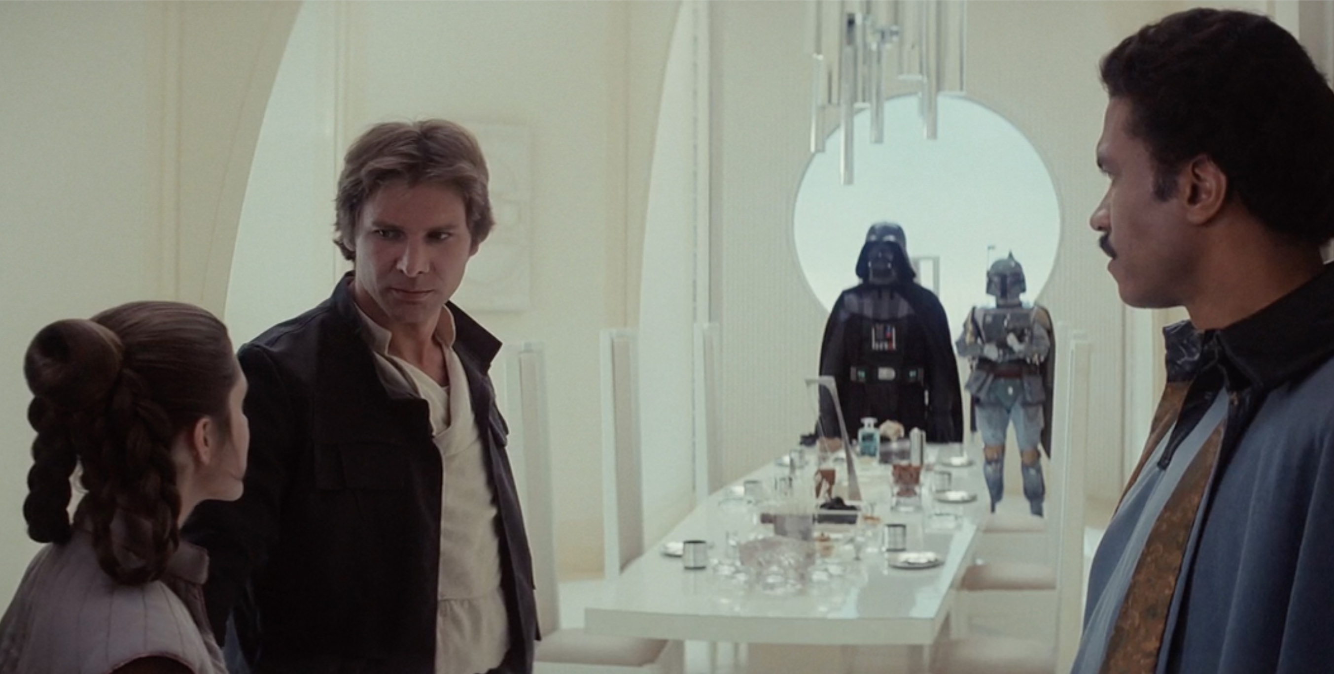 Darth Vader invites our heroes to dinner!