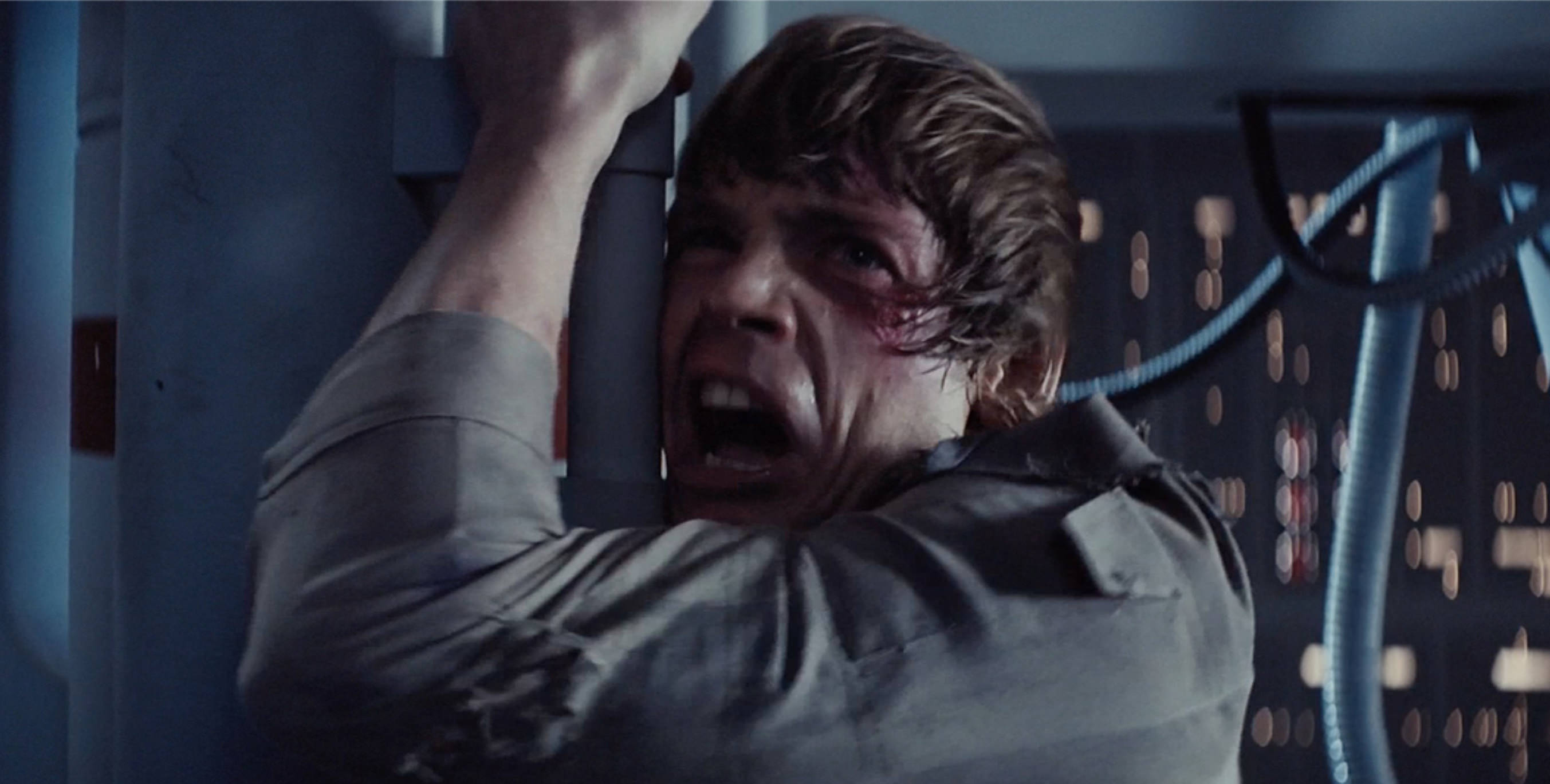 Luke screams NOOOOOO!