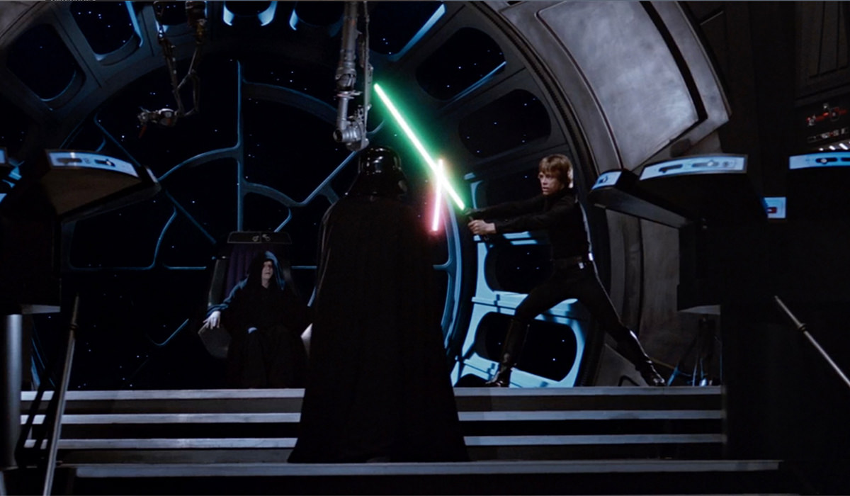 Darth Vader and Luke battling it out!