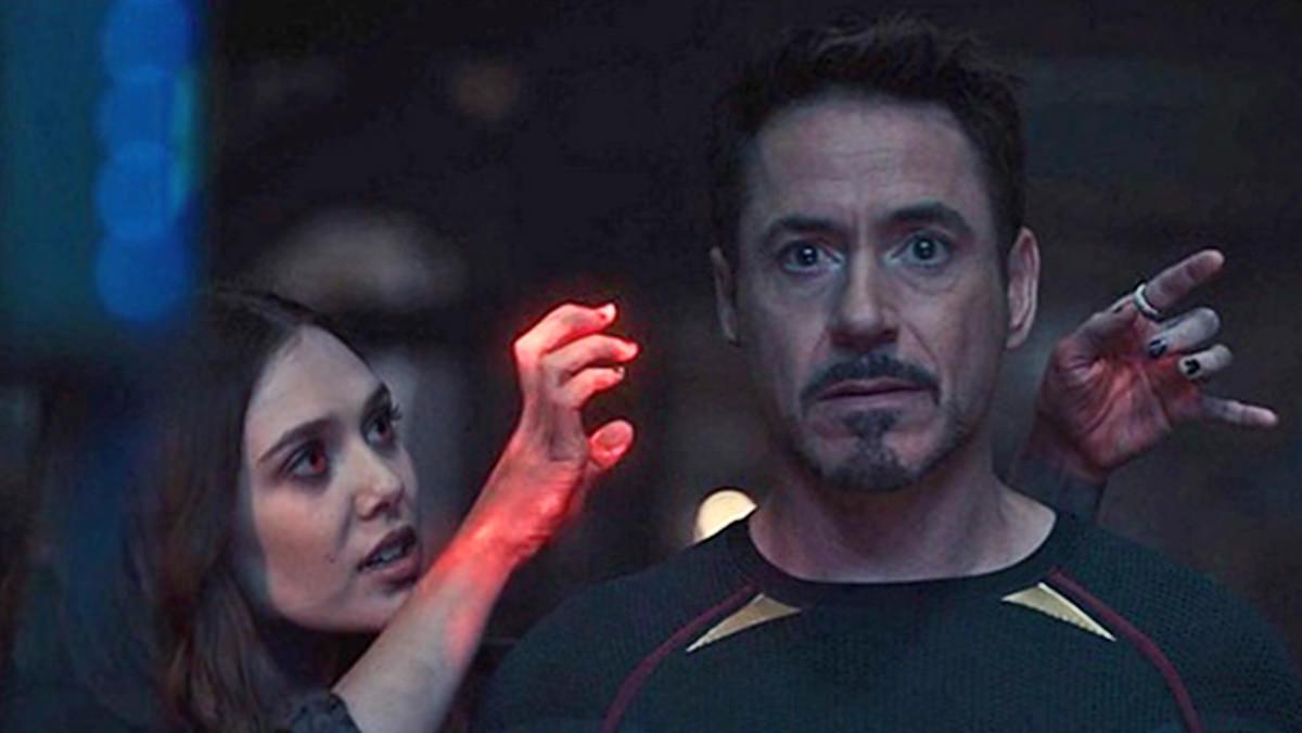 Wanda controlling Tony Stark's mind in Age of Ultron.