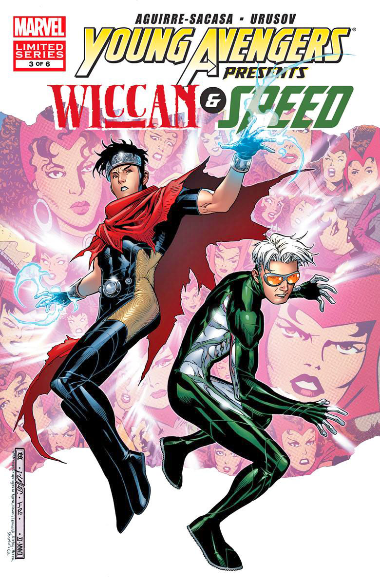 A Young Avengers comic book cover featuring Wiccan and Speed.