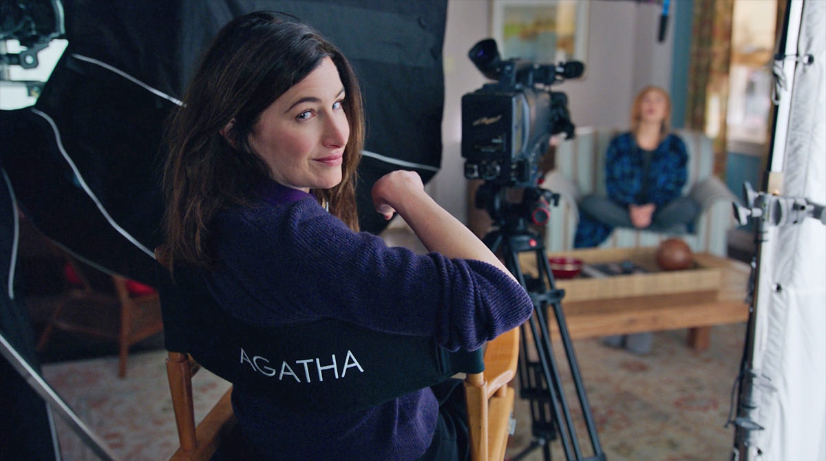 Agnes has been directing the shows all along! She's even sitting in her director's chair!