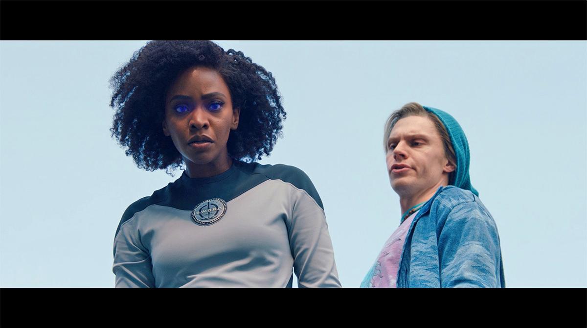 Monica Rambeau getting caught by 20th Century Fox X-Men Universe Pietro!
