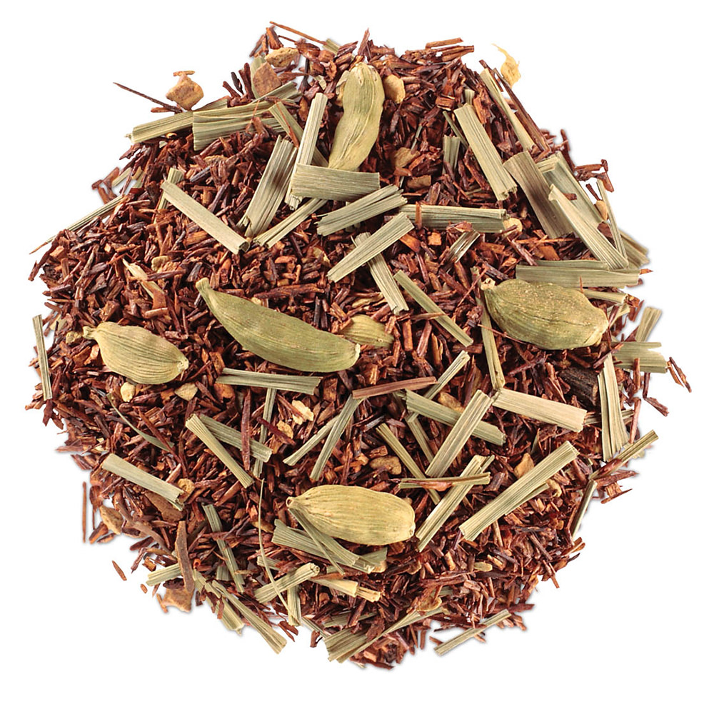 A pile of tea leaves with spices.