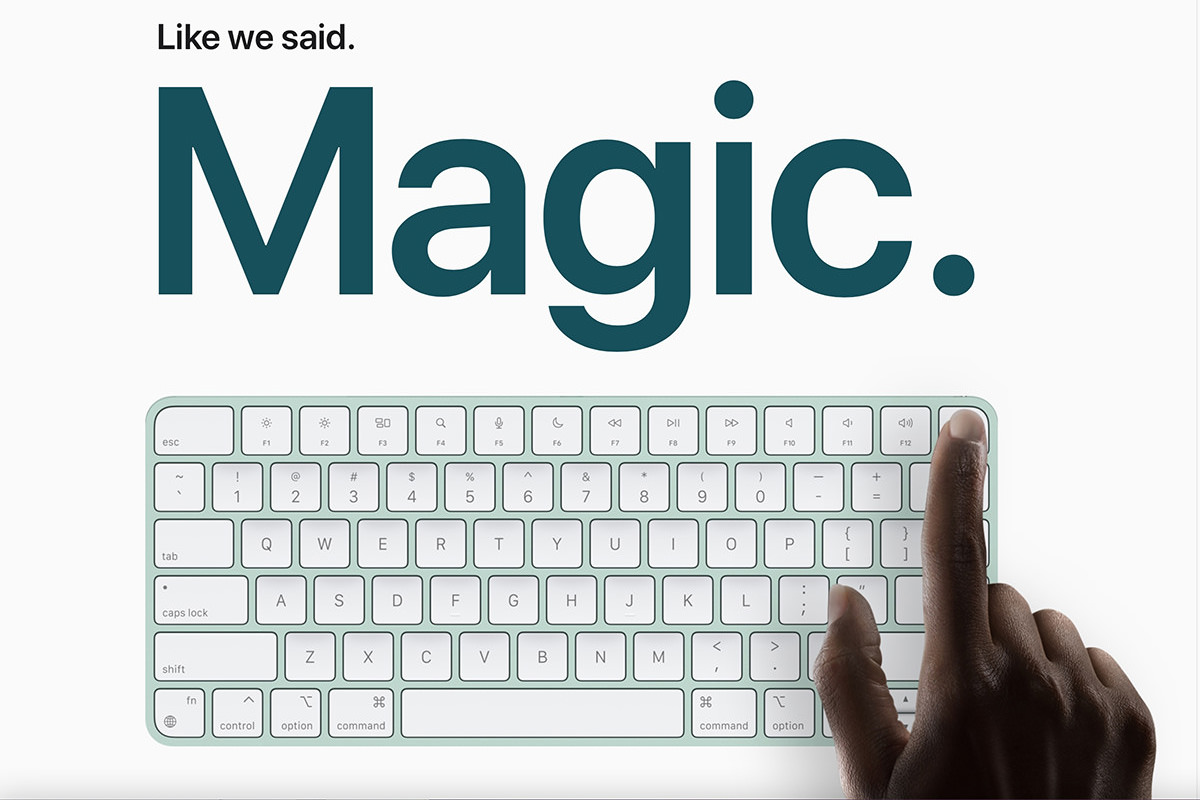 The pretty new iMac in BLUE.