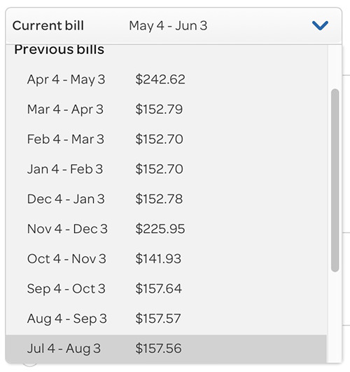 My bill clearly showing that AT&T is stupid.