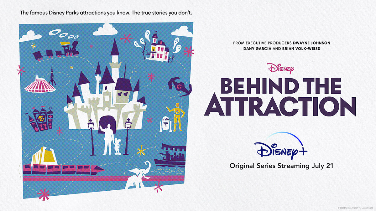 Poster for Disney+ Behind the Attraction.