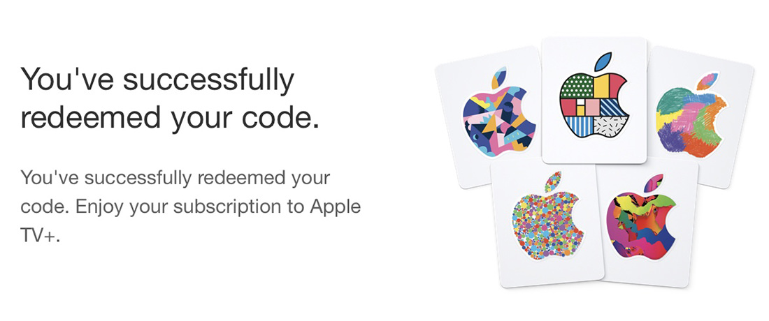 Confirmation Screen from AppleTV iTunes.