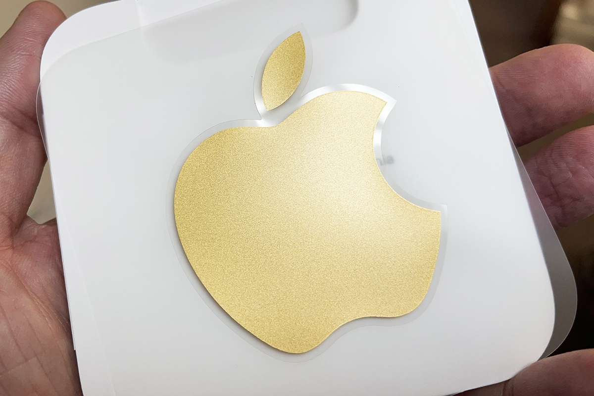 My gold Apple sticker.
