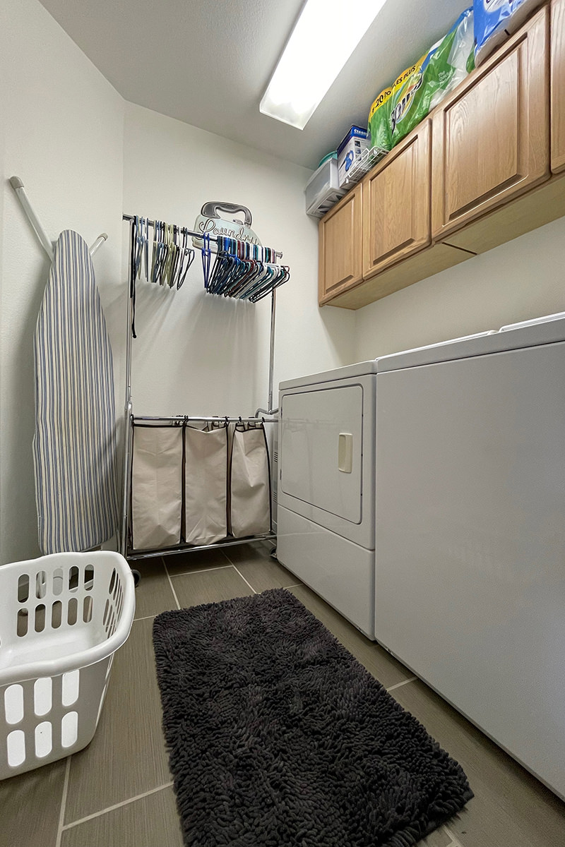 My clean laundry room with no clutter!