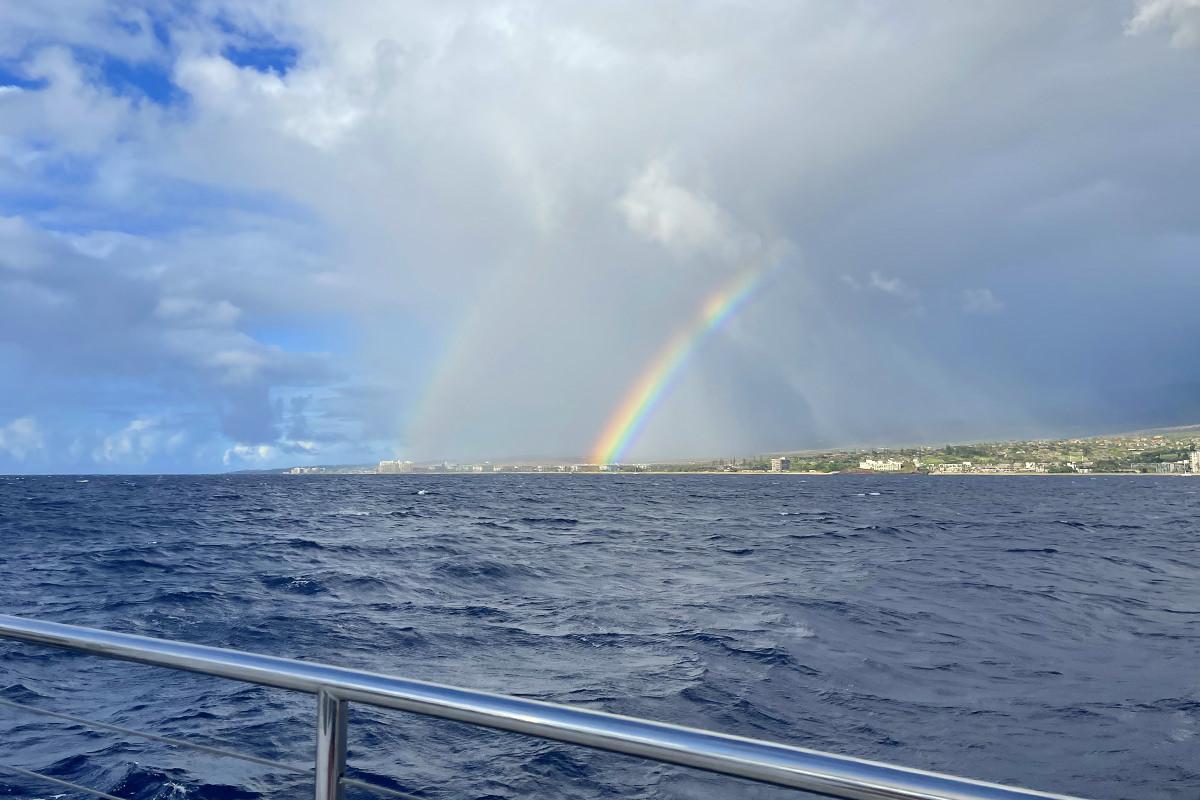 A double rainbow over Lahaina.