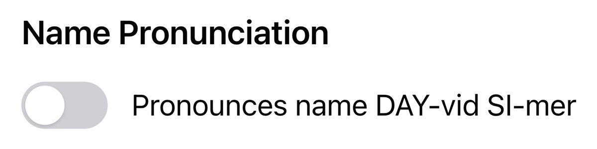Facebook mispronouncing my name.