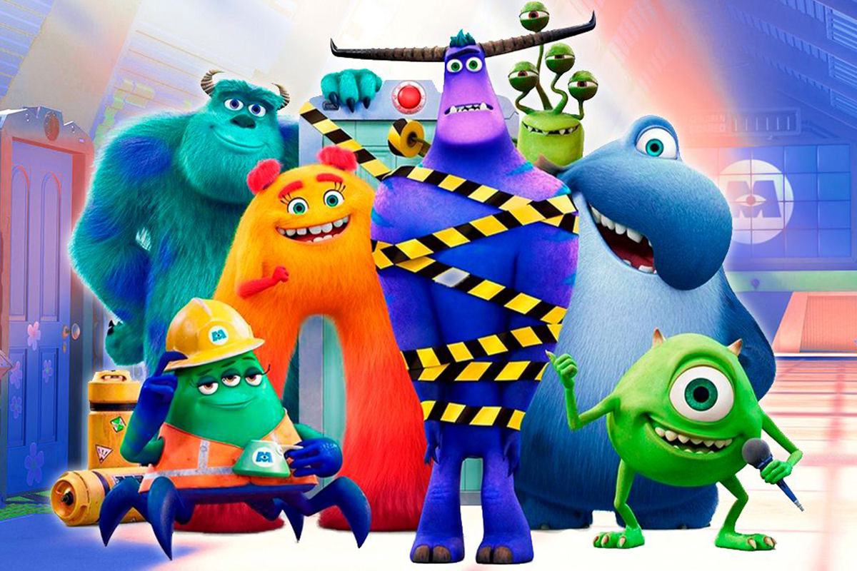 The assorted monsters from Monsters at Work by Pixar