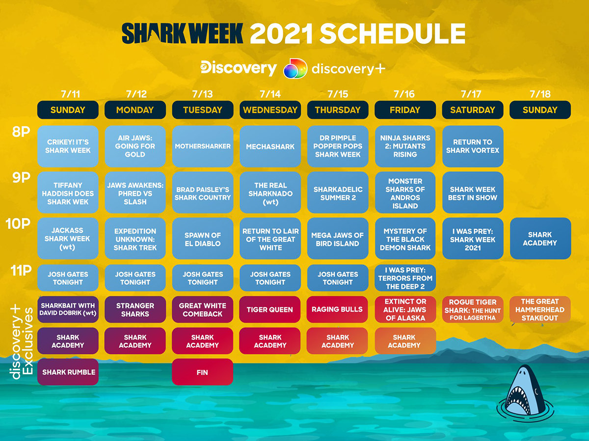Shark Week Schedule 2021.