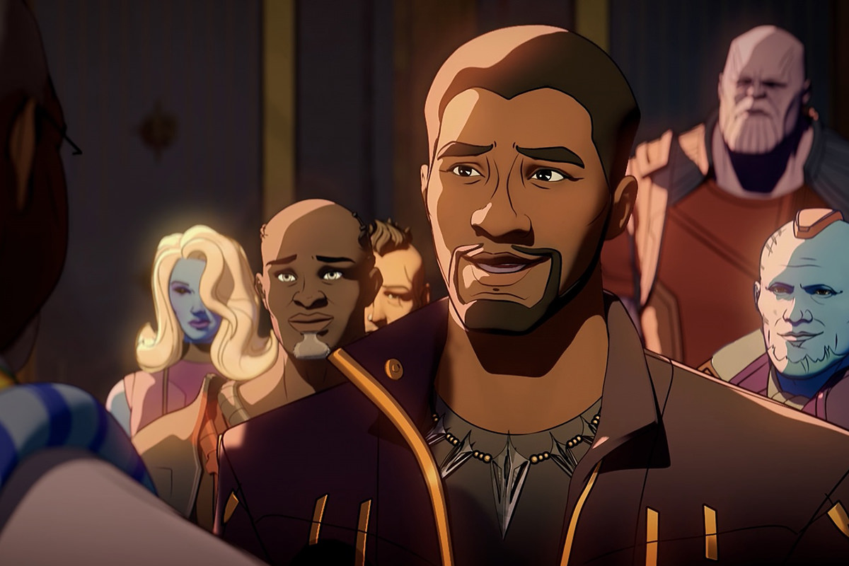 T'Challa as Star Lord.