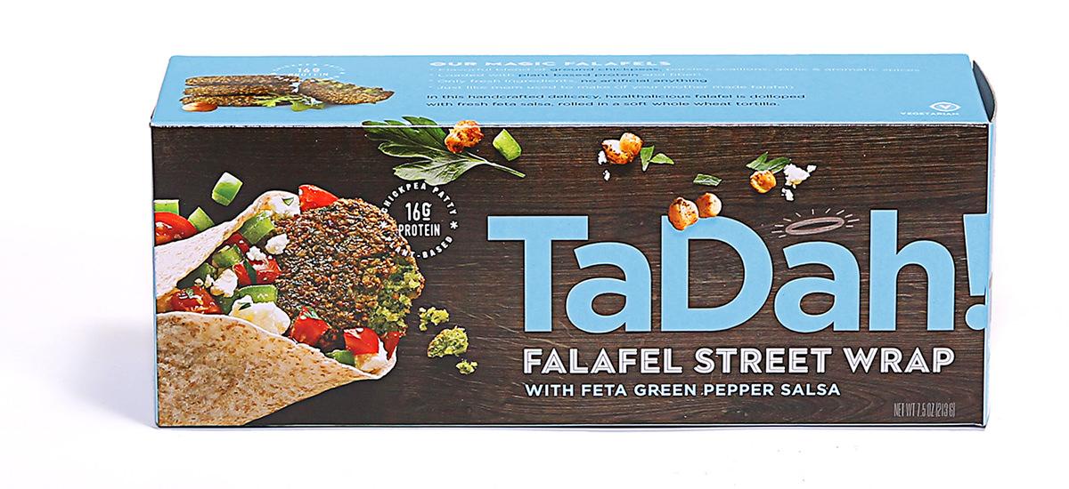 TaDah Falafel Street Wrap Box — Feta Green Pepper Salsa.