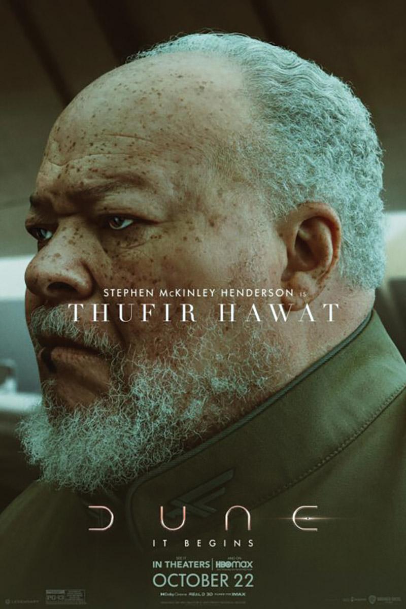 Stephen McKinley Henderson as Thufir Hawat character poster.