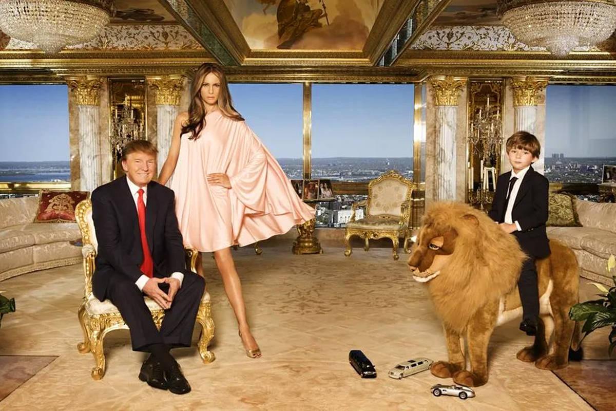 Trump's gaudy gold penthouse.