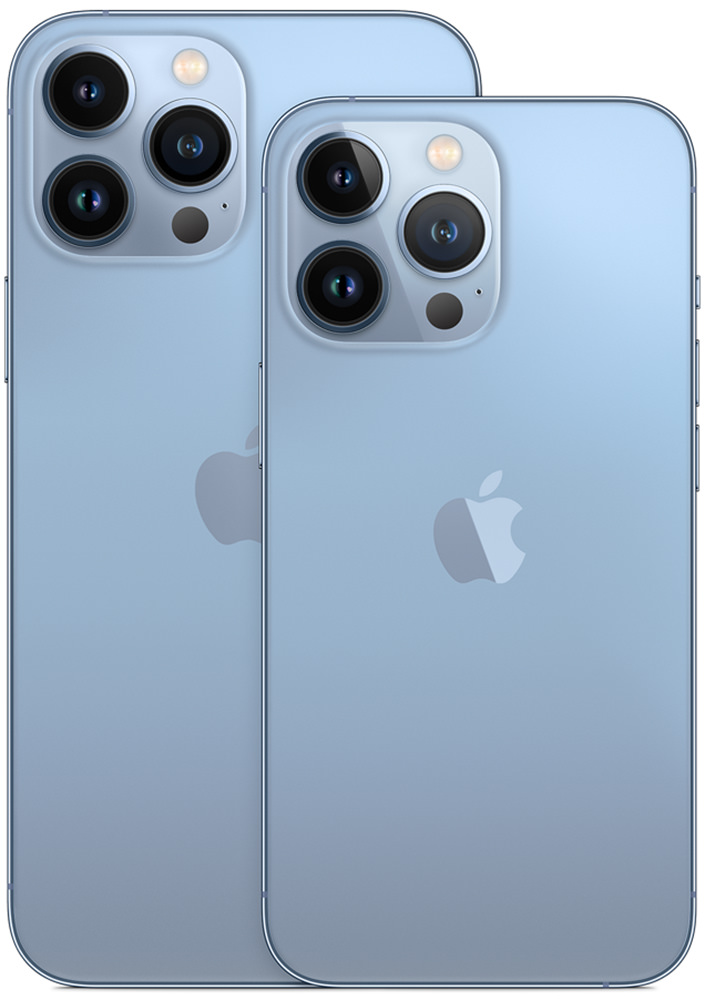 The iPhone Pro and much larger iPhone Pro MAX.