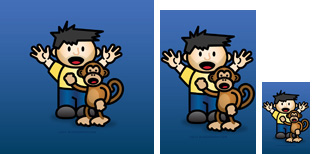 Lil Dave and Bad Monkey Wallpaper Thumb
